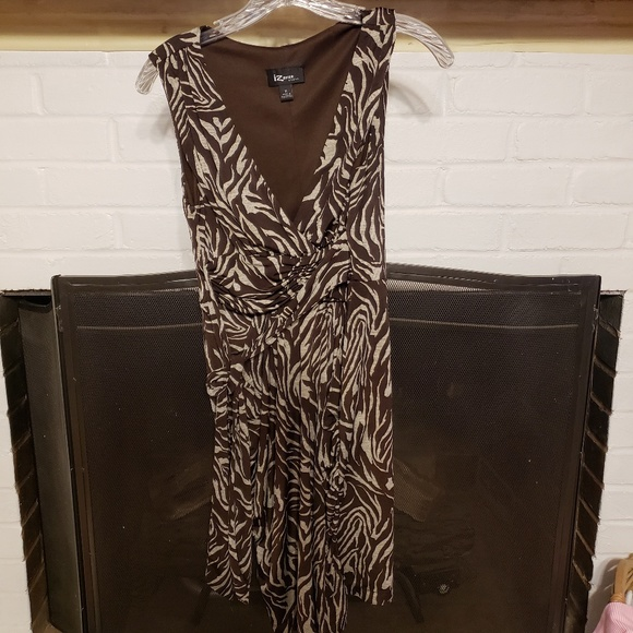 Dresses & Skirts - Brown zebra print dress.
